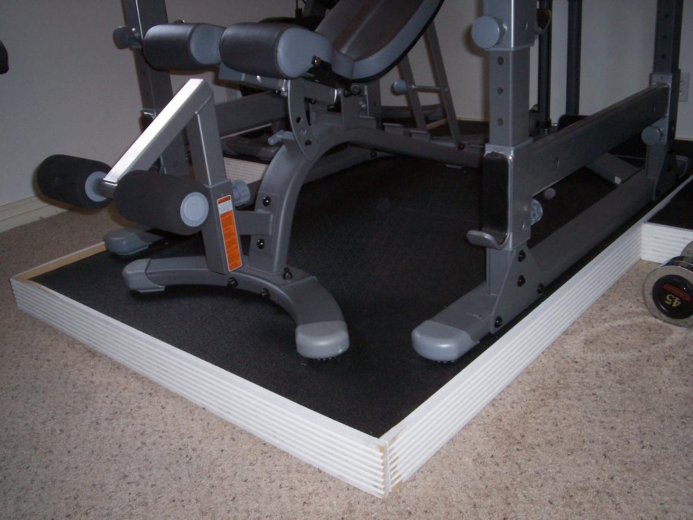 My solution to uneven weight room floor bodybuilding.com forums