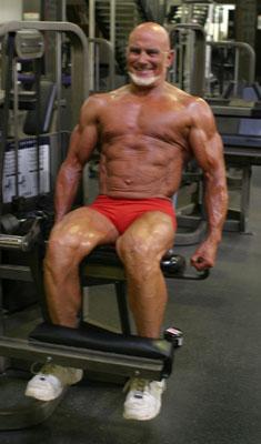 Flathead's progress pictures, Mr America over 60 prep