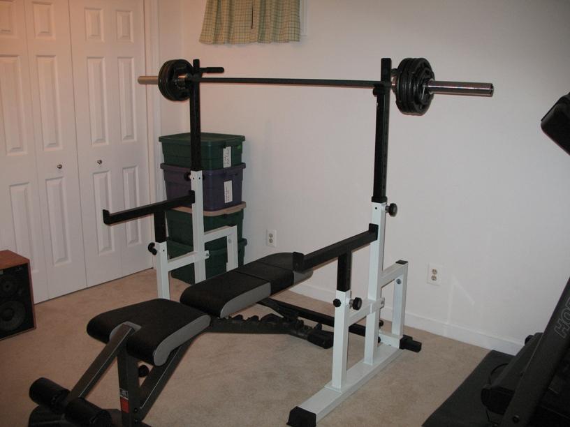 Homemade squat spotter stands crazy homemade for Homemade squat rack