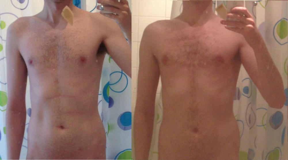 3 months 5x5 strong lifts - before and after - muscle or