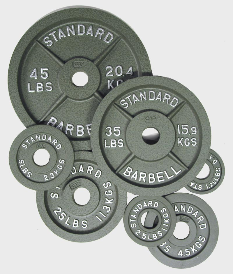 Machined Cap Barbell Plates