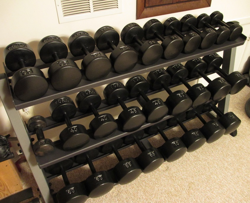 york legacy dumbbells. although fixed-weight dumbbells aren\u0027t very practical, there\u0027s something to be said for walking into your workout room and seeing a rack of dumbbells, york legacy .